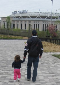 Taking my daughter to a game in April 2013.