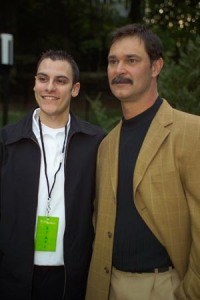 With Mattingly at the event.