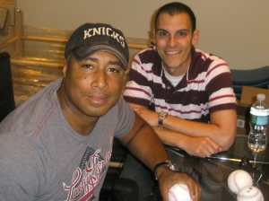 With Bernie Williams